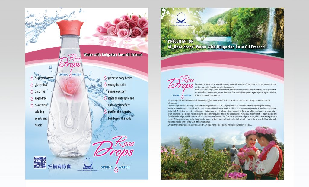 Rose water drops